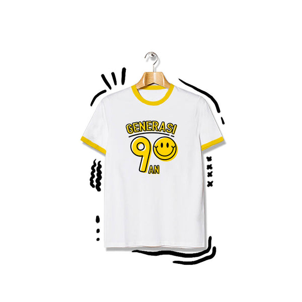 T-shirt Smiley Short Sleeve White