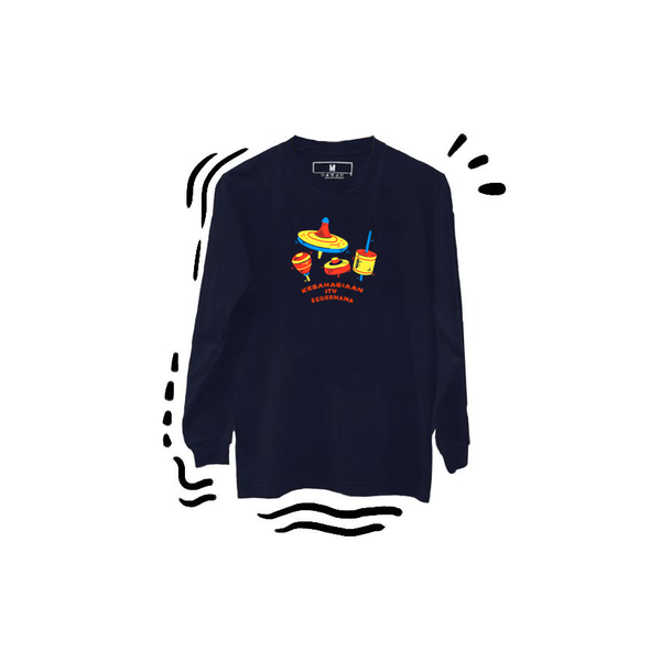 T-shirt Gasing Long Sleeve Navy