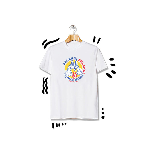 T-shirt Pelangi Shortsleeve White