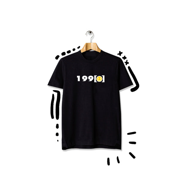T-shirt 1990 :) Short Sleeve Black