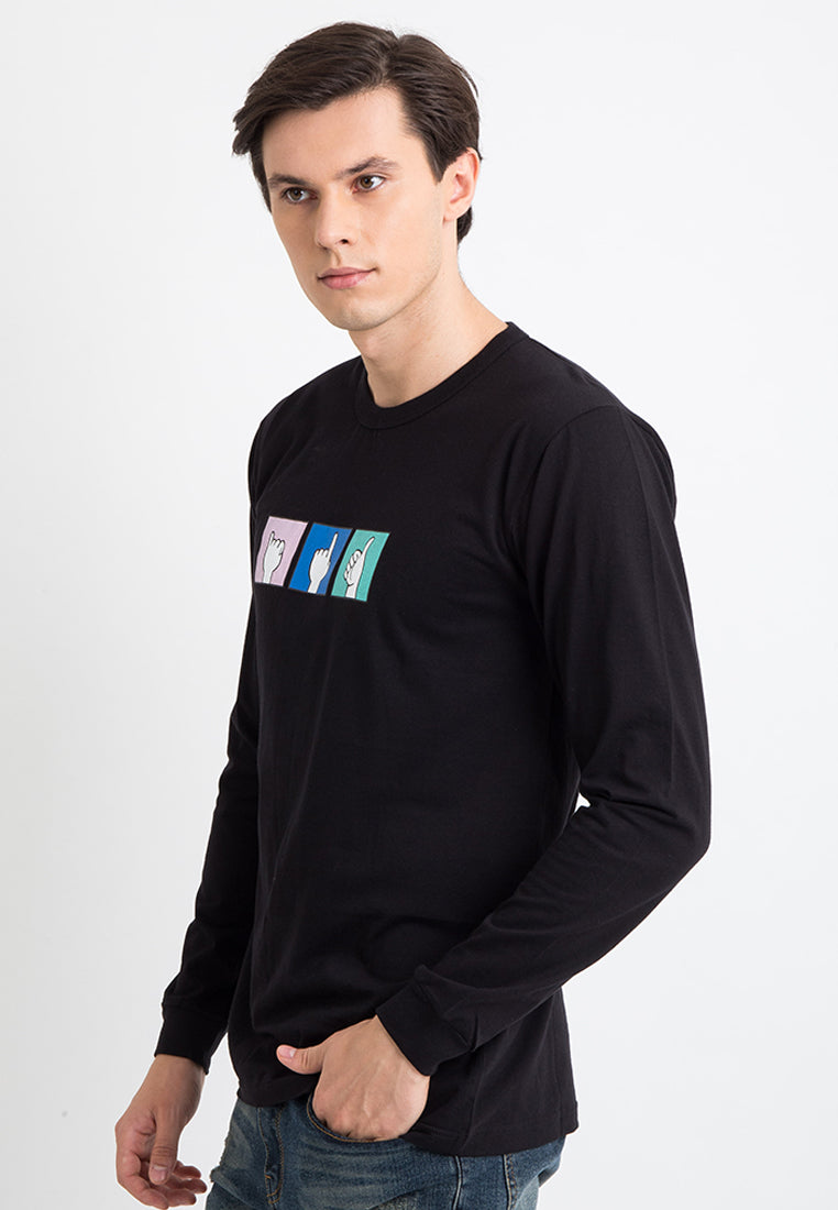 T-shirt Suit Long Sleeve Black
