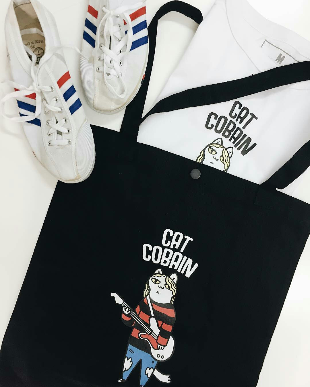 Totebag Cat Cobain
