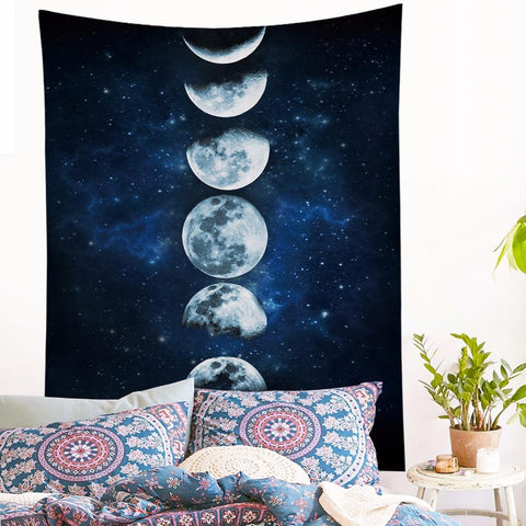 Moon eclipse tapestry