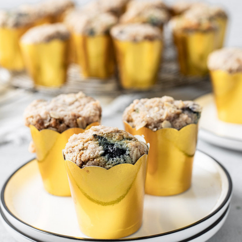 blueberry crumble muffings