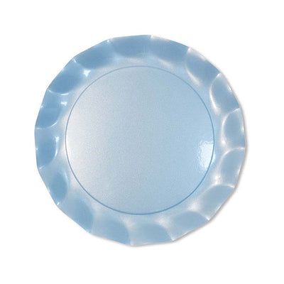 Pearly Blue Sky Petalo Dinner Plates - 10/pk