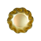 Satin Gold Wavy Paper Deep Bowl/8pk