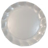 Pearly White Petalo Charger Plates