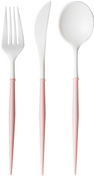 Blush Bella Assorted Plastic Cutlery/24pc, Service for 8