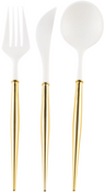 Gold Bella Assorted Plastic Cutlery/24pc, Service for 8