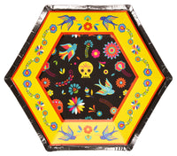 Day Of The Dead Paper Salad Plate/8pk