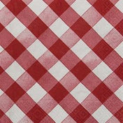 Red Gingham Paper Lunch Napkins/20pk