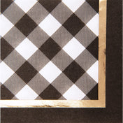 Black Buffalo Check Paper Cocktail Napkin/20pk