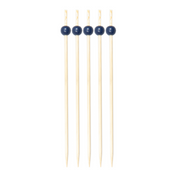 Navy 6 Inch Wood Party Pick/30pk