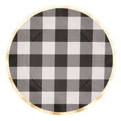 Black Buffalo Check Wavy Paper Dinner Plate/8pk