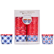 Large Paper Baking Cups | Patriotic Gingham | 50 ct