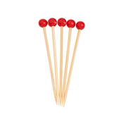 Red/Scarlet 3.5 Inch Wood Party Pick/40pk
