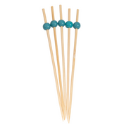 Turquoise 6 Inch Wood Party Pick/30pk
