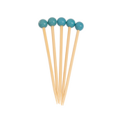 Turquoise 3.5 Inch Wood Party Pick/40pk