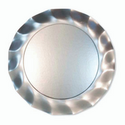 Silver Wavy Paper Salad Plate/8pk
