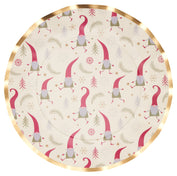 Jolly Gnomes Wavy Paper Dinner Plate/8pk