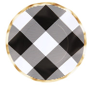 Black Buffalo Check Wavy Paper Salad Plate/8pk