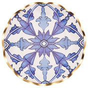 Moroccan Nights Wavy Paper Salad Plate/8pk