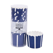 Navy Vertical Large Paper Baking Cups