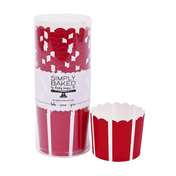 Scarlet Vertical Large Paper Baking Cups