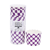 Orchid Dot Large Paper Baking Cups
