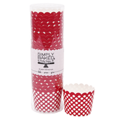 Scarlet Dot Small Paper Baking Cups
