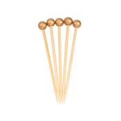 Gold 3.5 Inch Wood Party Pick/40pk