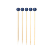 Navy 3.5 Inch Wood Party Pick/40pk