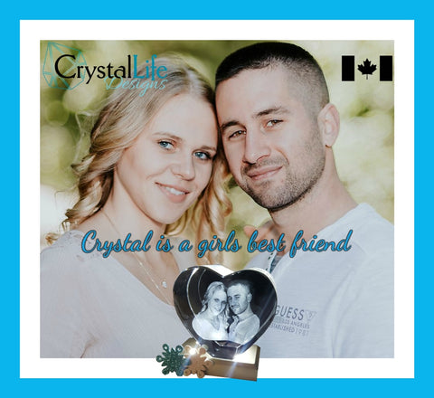 crystal life designs 3d laser etched photo crystal canada heart
