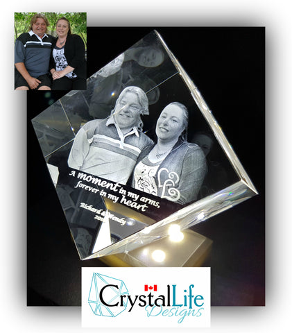 crystal life designs 3d laser etched photo crystal canada valentines diamond