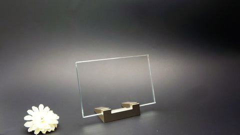 Flat Glass Laser Photo Crystals With FREE Light Base