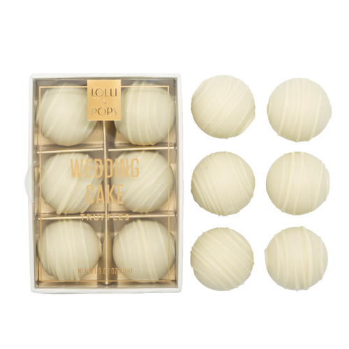 Lolli & Pops White Chocolate Wedding Cake Truffles