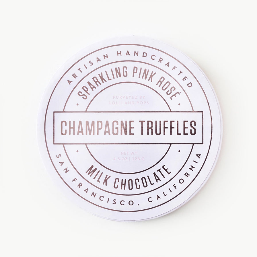 Sparkling Pink Rose Champagne Truffles (Medium)