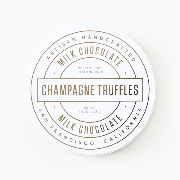 Milk Chocolate Champagne Truffles (Medium)