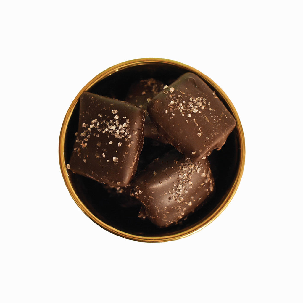 Dark Chocolate Sea Salt Toffee | Lolli and Pops