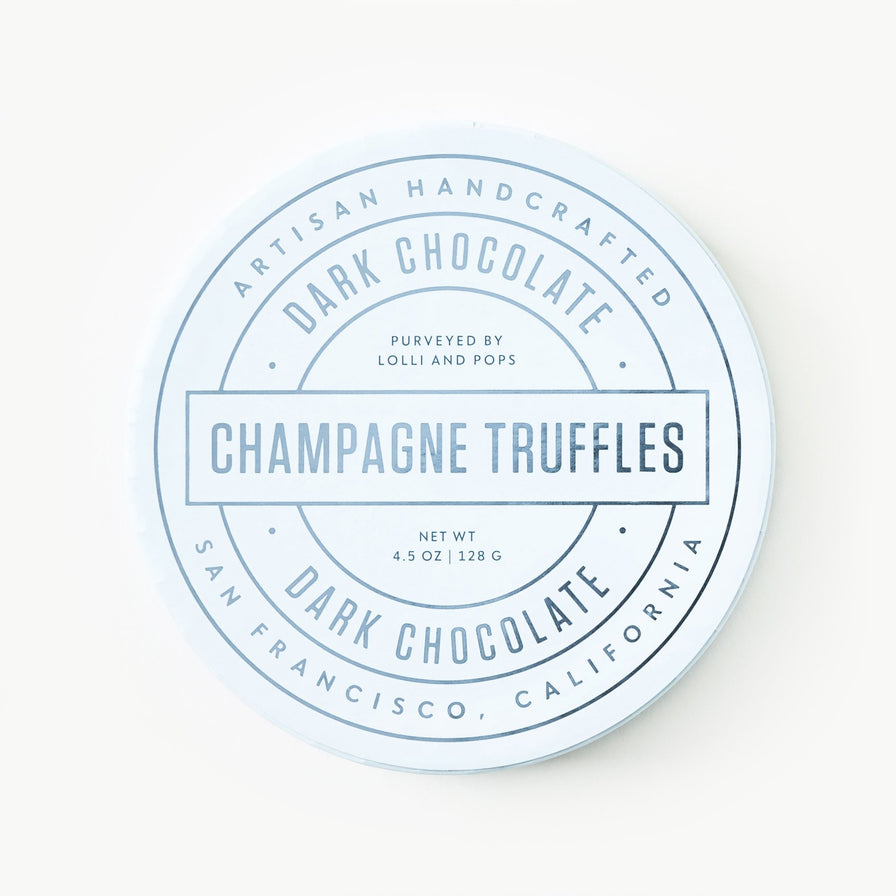 Dark Chocolate Champagne Truffles (Medium)