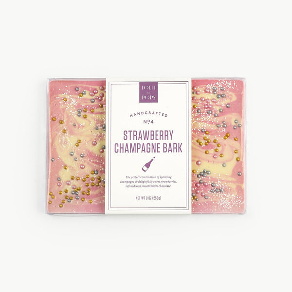 Lolli & Pops Strawberry Champagne Bark