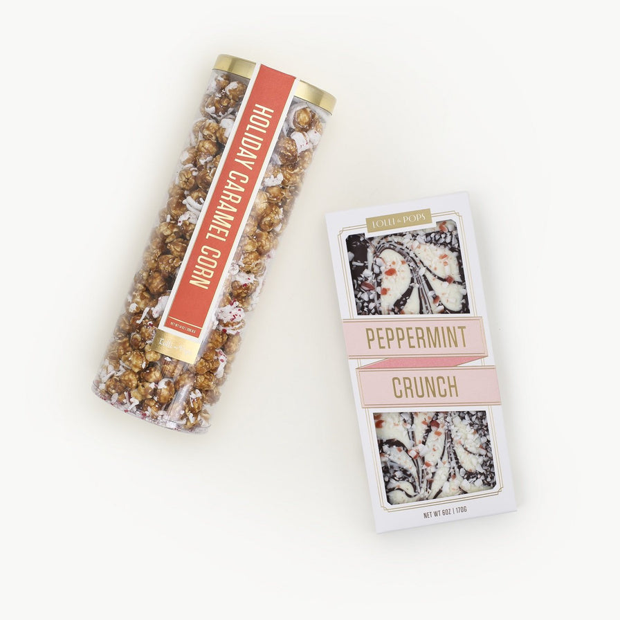 Holiday Caramel Corn - Peppermint Topp'd Chocolate Bar Bundle