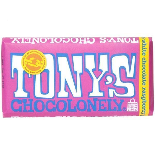 Tony's White Raspberry Popping Candy 28% Bar