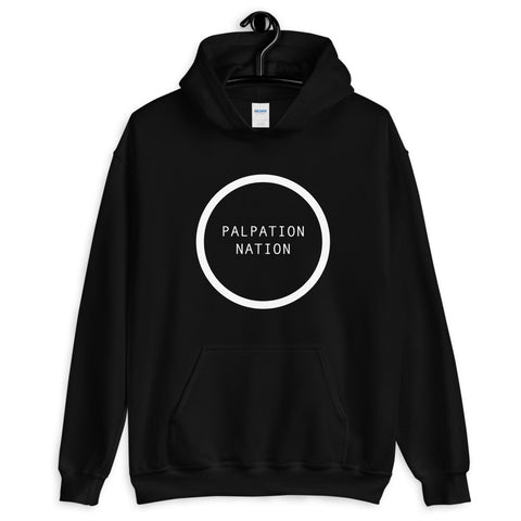 White Logo Palpation Nation Hoodie