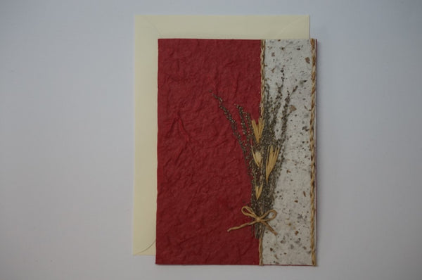 Red Wheat and Two Cords Envelope