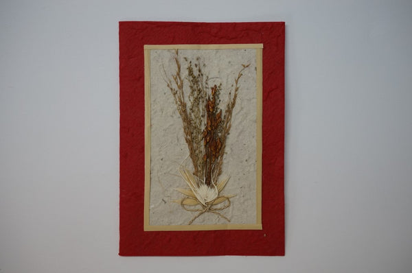 Red Wheat Flower Bouquet Standard