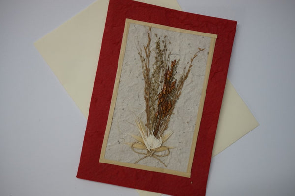 Red Wheat Flower Bouquet Fancy