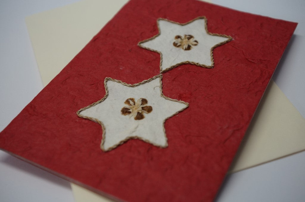 Christmas Stars Red Close Up