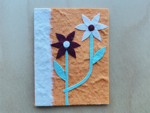 Mini Card: Flowers with Orange Background (903)