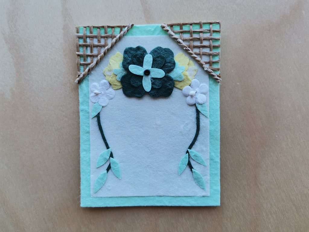 Mini Card: Green Floral Archway (911)